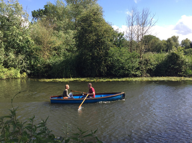 Rowing against the wind, River Avon, Warwick