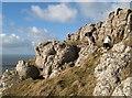 SH7583 : Limestone outcrop by Jonathan Wilkins