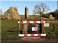 SU1070 : Closed gate in Avebury by Steve Daniels