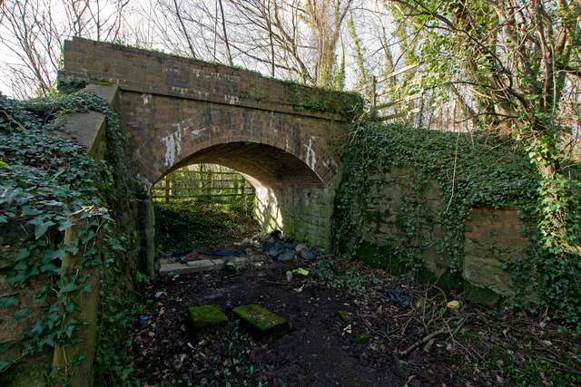 A hidden bridge which carried the Devon and Somerset Railway