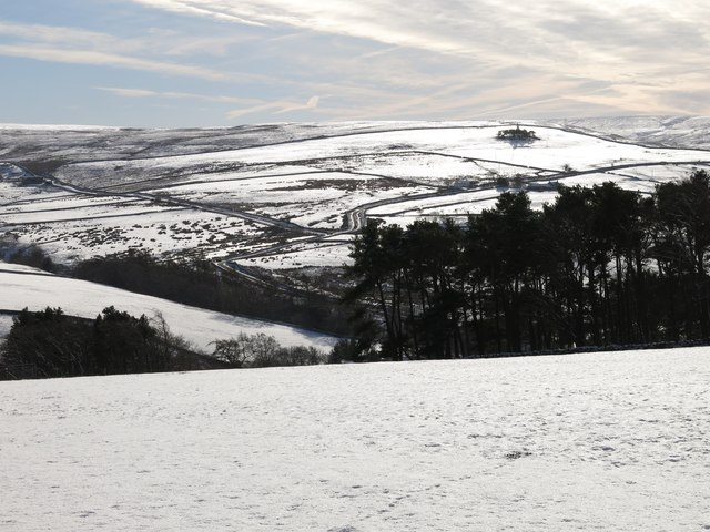 East Allen Dale around Sinderhope in the snow