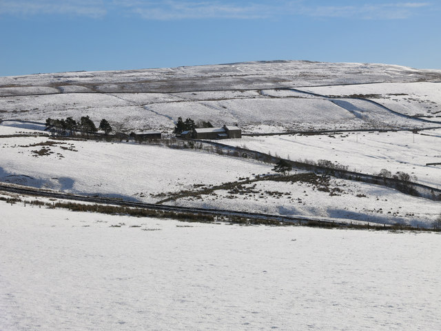 The valley of Hollocks Burn in the snow