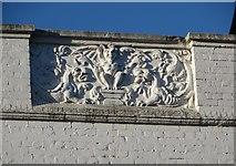 TM1714 : Relief panel, Pier Avenue, above Clinton Cards by Duncan Graham
