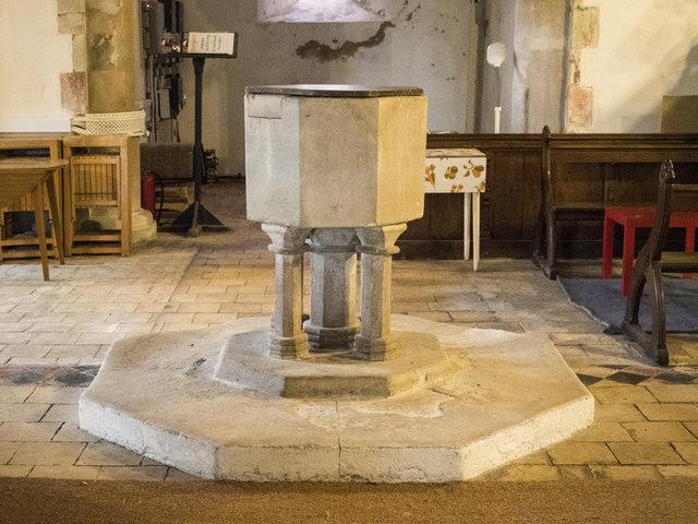 St Peter, Horningsea - Font