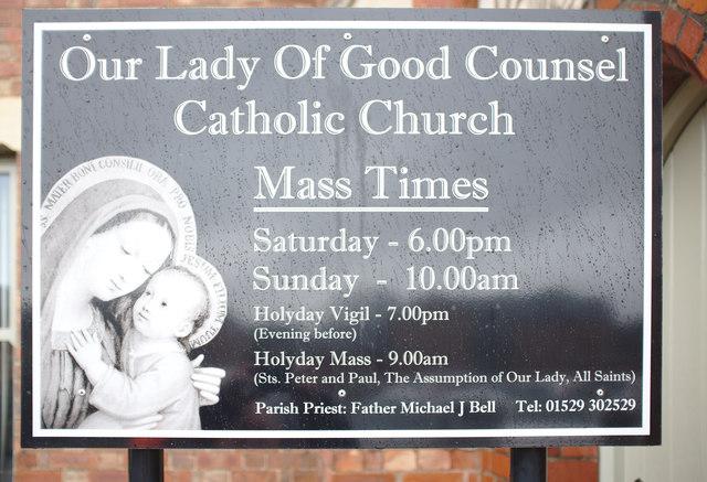 Church nameboard
