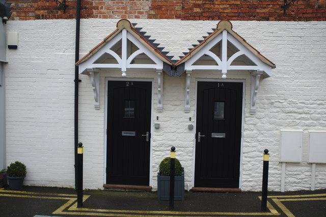 Doors in the White Hart Mews