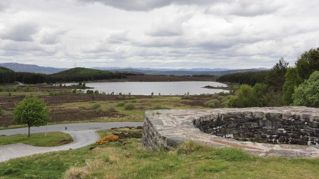 Loch Kinardochy from Tomphubil Limekiln