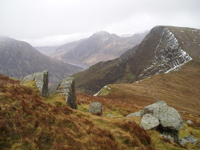 Above Bwlch y Brecan