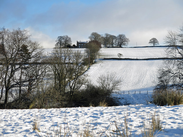 The valley of Shield Burn in the snow