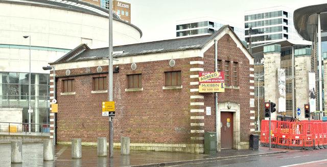 Former pumping station, Oxford Street, Belfast (February 2018)