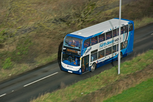 The 09:15 No. 21 bus from Ilfracombe to Westward Ho!