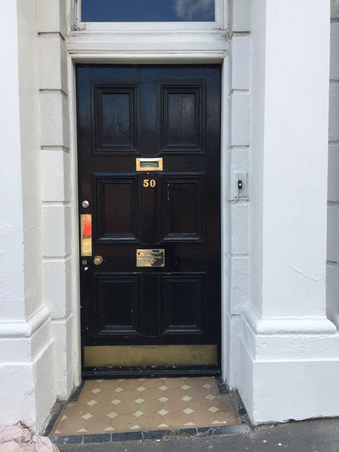 Door of 50 Bedford Street, Royal Leamington Spa
