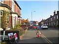 SJ9594 : Roadworks on Dowson Road by Gerald England