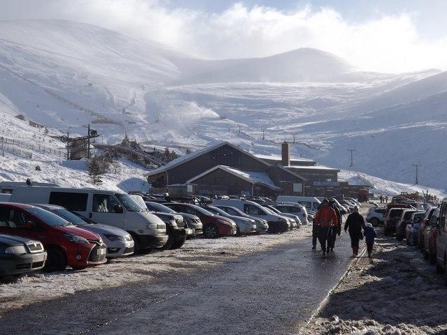 Car park at Cairngorm Mountain