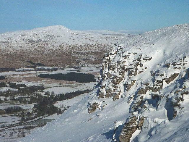 The upper crags of Ingleborough
