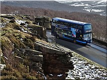 SK2480 : The 271 Castleton bus at Surprise View corner by Neil Theasby