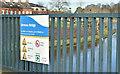 J3472 : Water safety sign, Ormeau Bridge, Belfast - February 2018(2) by Albert Bridge