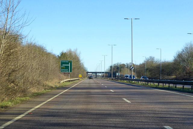 Northbound A10