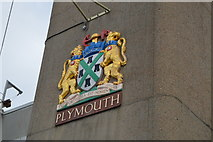 SX4358 : Plymouth coat of arms, Tamar Bridge by N Chadwick