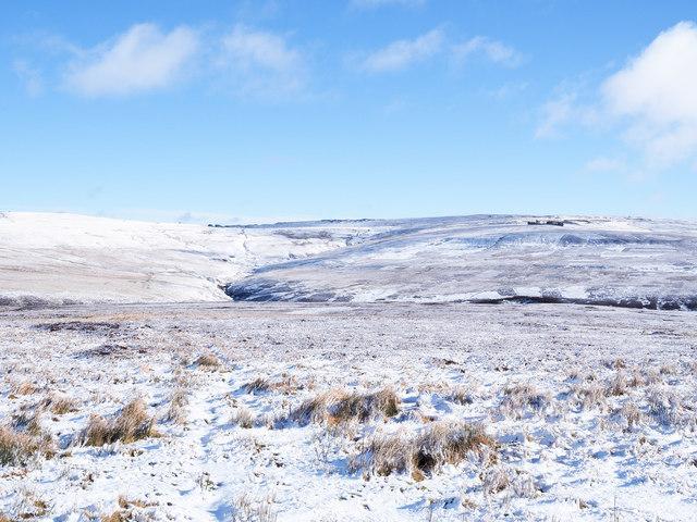 Moorland under snow north of Park Plantation