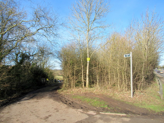 Public Footpath Off  A449 to Hawford Lock