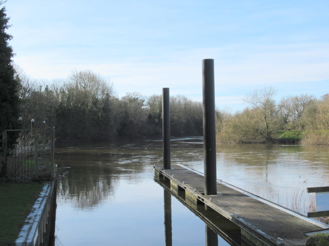 The River Severn Heading South From Hawford Lock