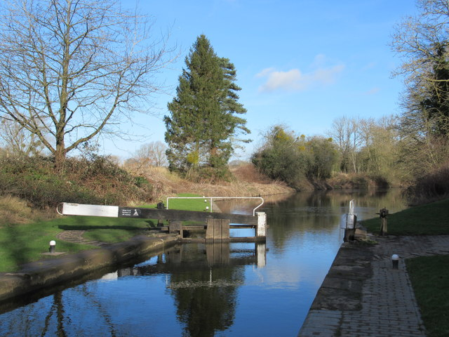 The Droitwich Canal at Hawford Lock
