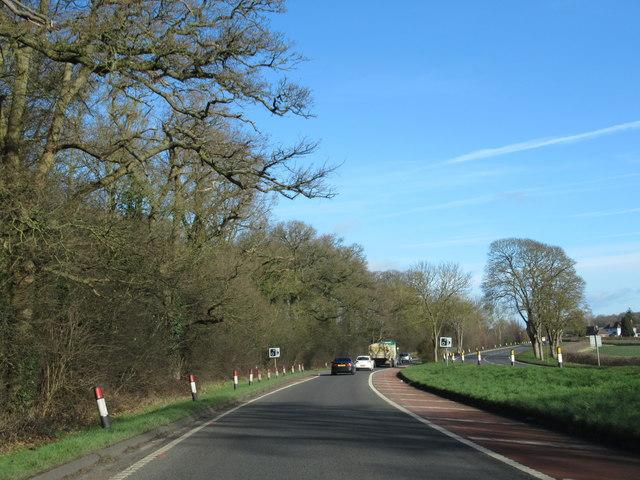 A449 Heading For Kidderminster Dual Carriageway Ending