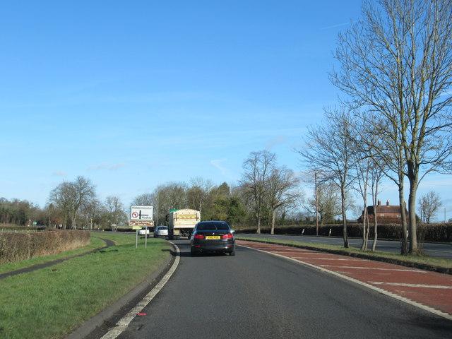 A449 Near Turning For Hadley