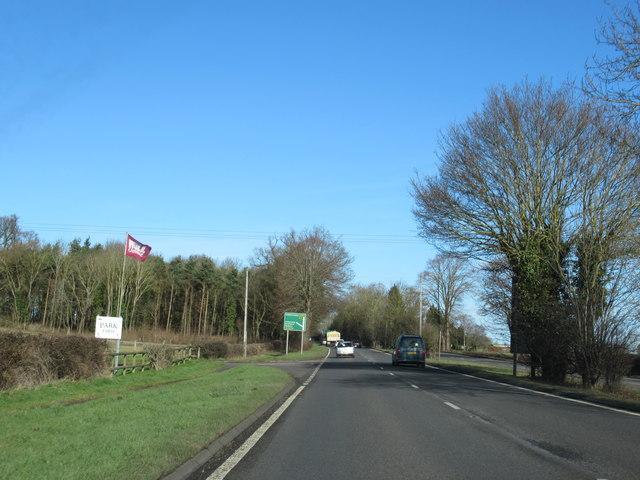 A449 Heading For Kidderminster Passing Park Farm