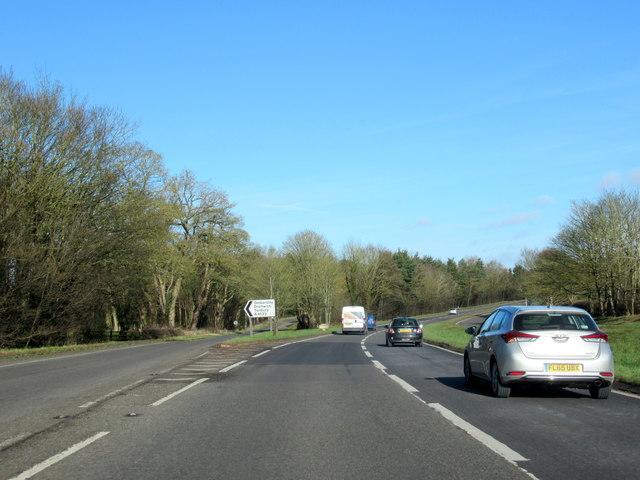 A449 Heading For Kidderminster Slip Road For Ombersley