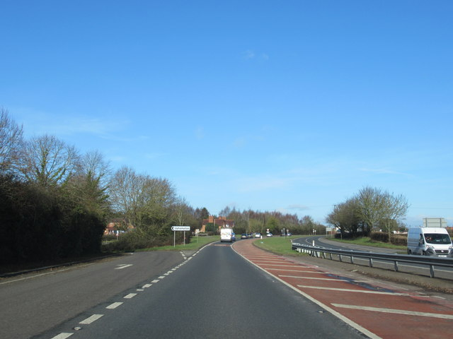 A449 Northbound Turning For Uphampton