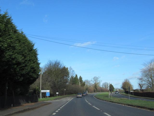 A449 Northbound at Northampton Lane Turning