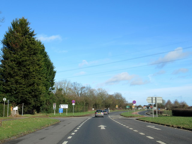 A449 Northbound at Woodfield Lane Turning