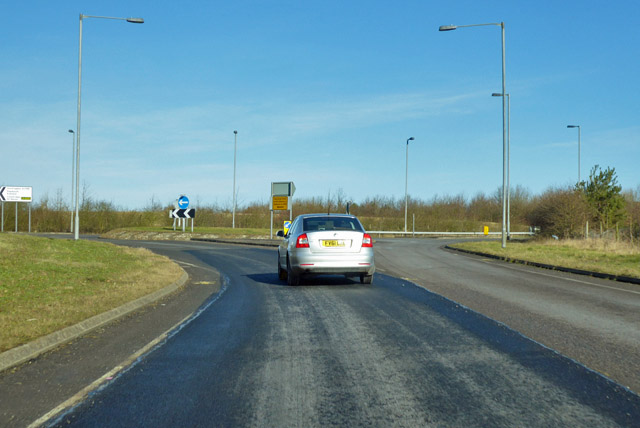 Roundabout on A1198 Caxton Bypass