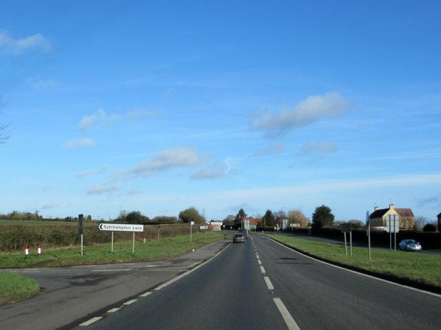 A449 at Dark Lane Turning For Sytchampton