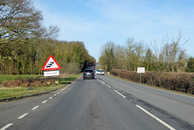 A1198 heading north - queues likely