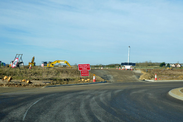New A14 construction - Section 3 Logistics Yard