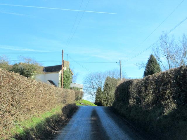 Doverdale Lane Entering Doverdale