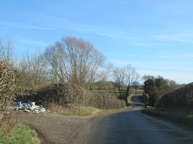 Doverdale Lane Rubbish Dumped at Entrance to Field