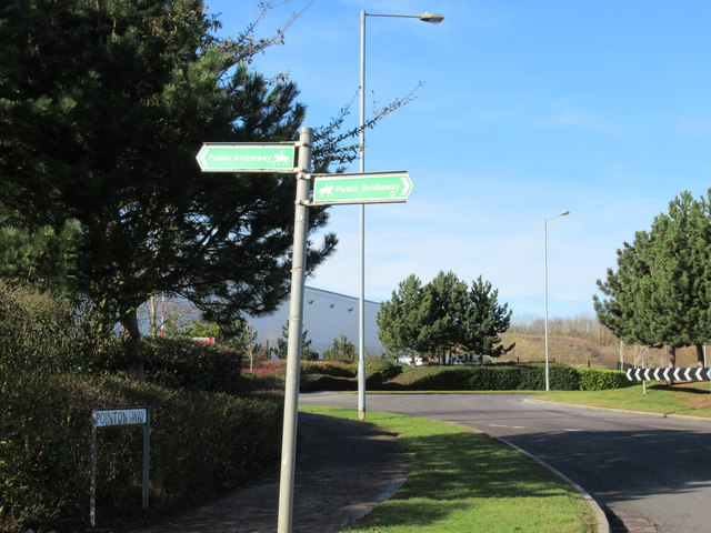 Monarch's Way Signpost at Pointon Way Industrial Park
