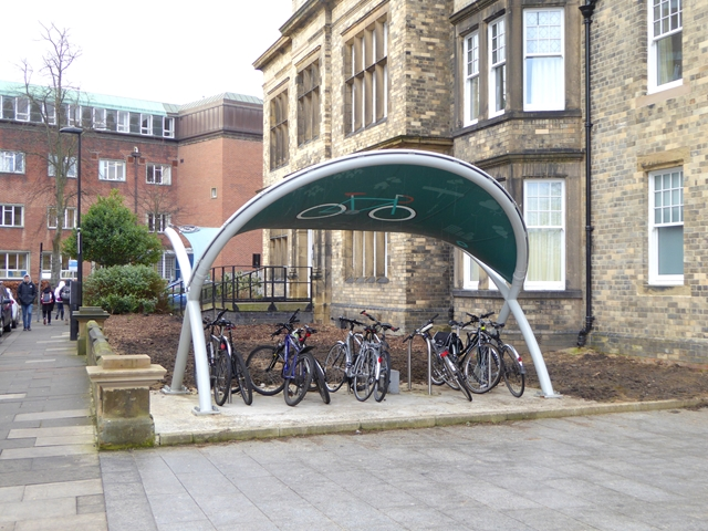 Cycle racks and shelter