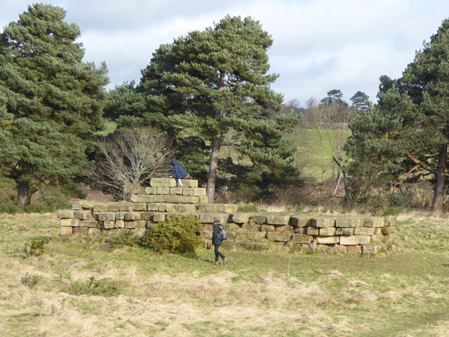 Roman building blocks at Corbridge