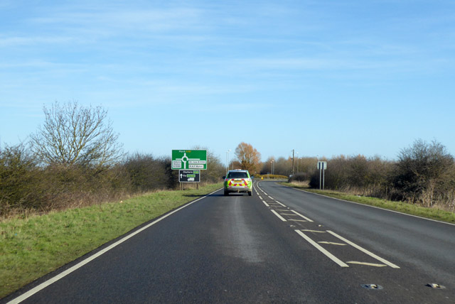 A141 heading north-east