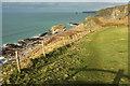 SX0382 : Coast path near Delabole Point by Derek Harper
