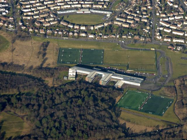 Three Coatbridge schools from the air
