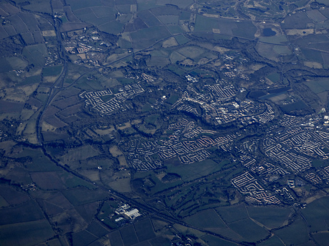 Morpeth from the air