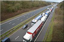 ST0209 : Willand : The M5 Motorway by Lewis Clarke