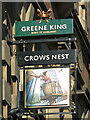 NZ2464 : Sign for The Crow's Nest, Percy Street, NE1 by Mike Quinn