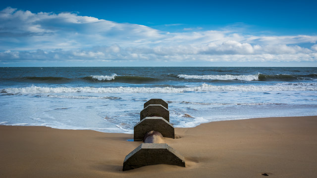 Outflow pipe on Brora Beach